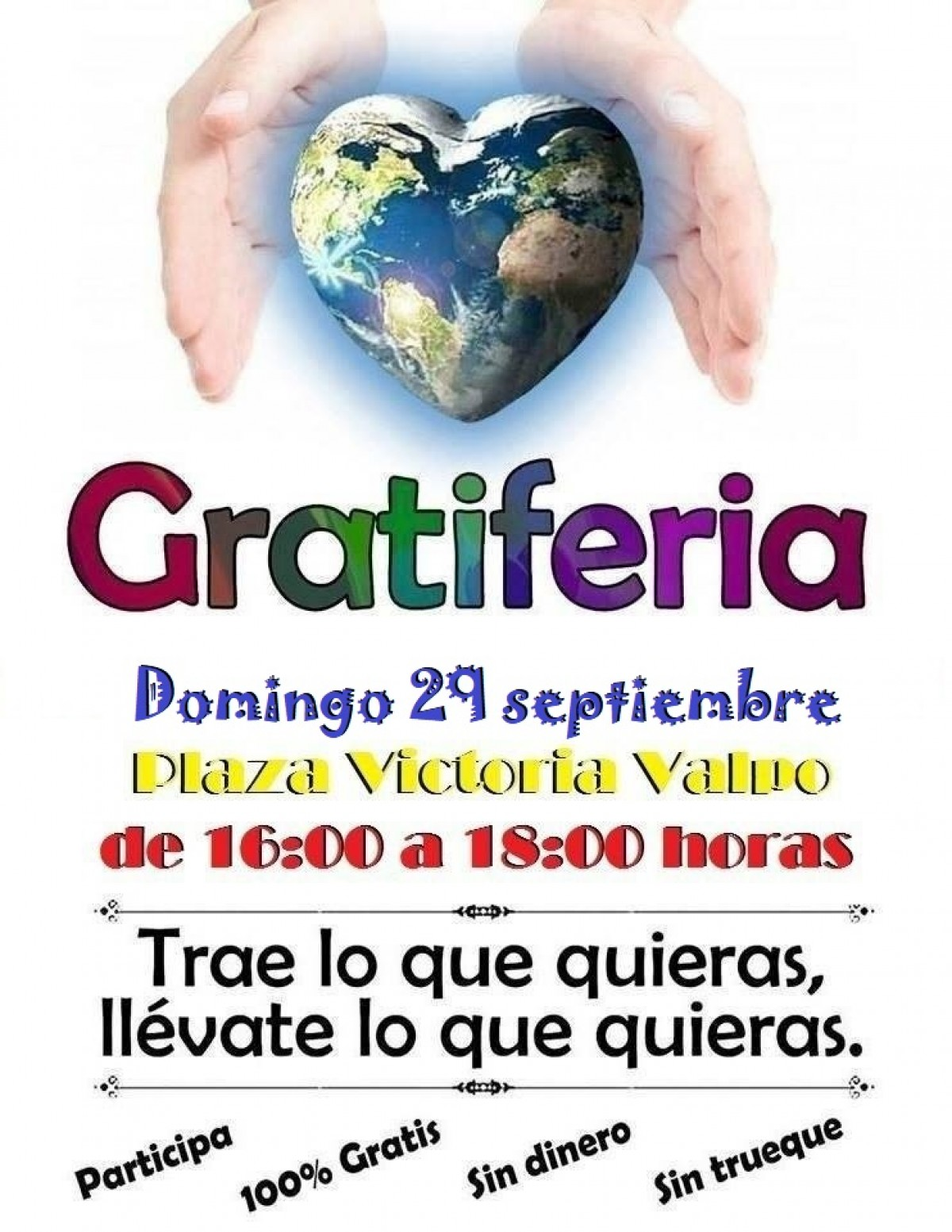 Gratiferia Plaza de la Victoria - 29 septiembre