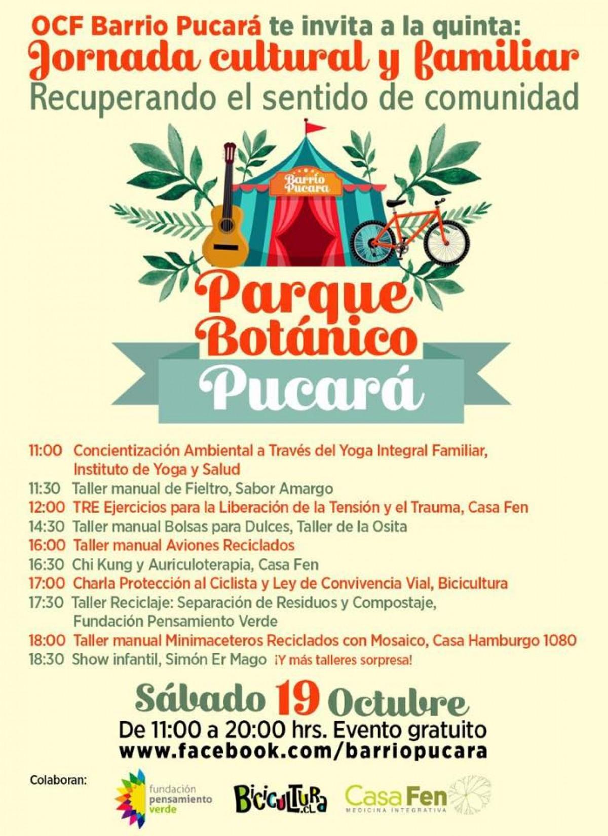 Jornada Cultural y Familiar - Parque Botánico Pucará