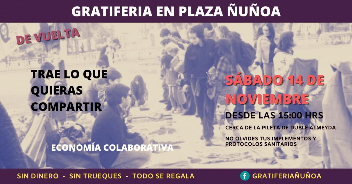 Gratiferia Plaza Ñuñoa - Sábado 14 noviembre
